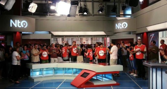 Los trabajadores ocupan el informativo de Canal Nou