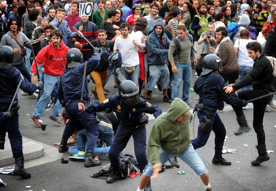 Cargas policiales en Madrid I La Marea