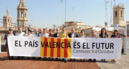 El País Valenciano celebra su Diada dividido y mirando a Cataluña