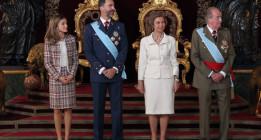 Momentos campechanos de la familia real española