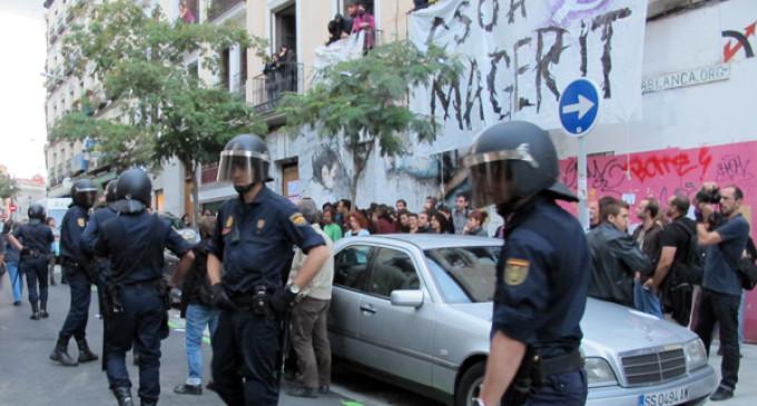 El movimiento okupa 'reconquista' el CSOA Casablanca de Madrid