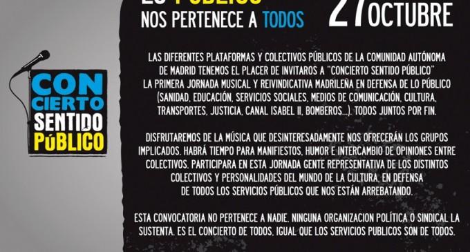 'Concierto Sentido Público', un festival en defensa de los servicios públicos [vídeos]
