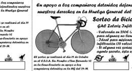Sortean la bicicleta del policía que se infiltró en el 15-M de Sevilla
