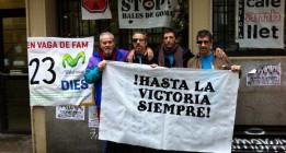 Los trabajadores de Telefónica abandonan la huelga de hambre