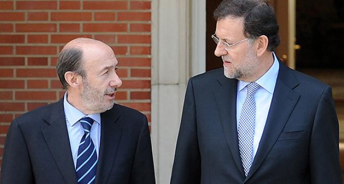 """Rajoy y Rubalcaba se limitan al """"y tú más"""" en el debate sobre corrupción"""