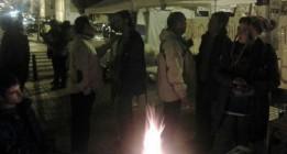 Mérida y Plasencia acampan en apoyo a los desempleados