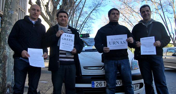 """Taxis gratis """"por una regulación digna del sector"""""""