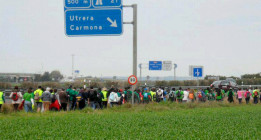Una marcha verde de 500 interinos recorre Andalucía