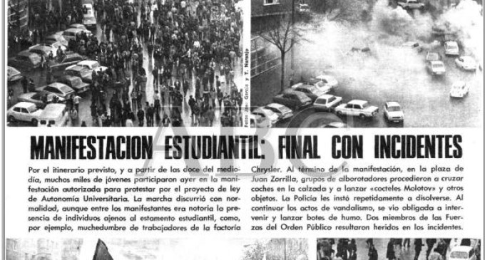 El movimiento estudiantil en la universidad: lucha y represión