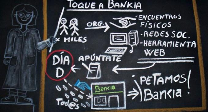 Víctimas de preferentes, el 15-M y la PAH llaman a paralizar miles de oficinas de Bankia el 9 de mayo