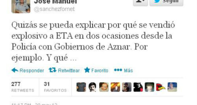 """""""La policía vendió explosivos a ETA en la época de Aznar"""""""