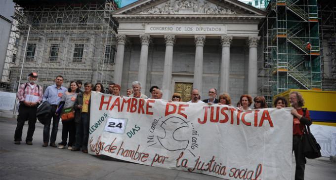 'Hambre de Justicia' llega al Congreso de la mano de Izquierda Plural