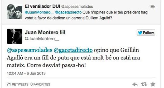 Un concejal de extrema derecha se congratula por el asesinato del antifascista Guillem Agulló