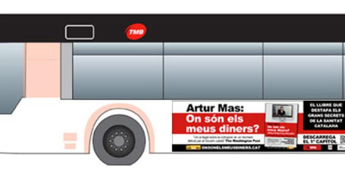 El libro 'Artur Mas, ¿dónde está mi dinero?' no podrá anunciarse en los buses de Barcelona