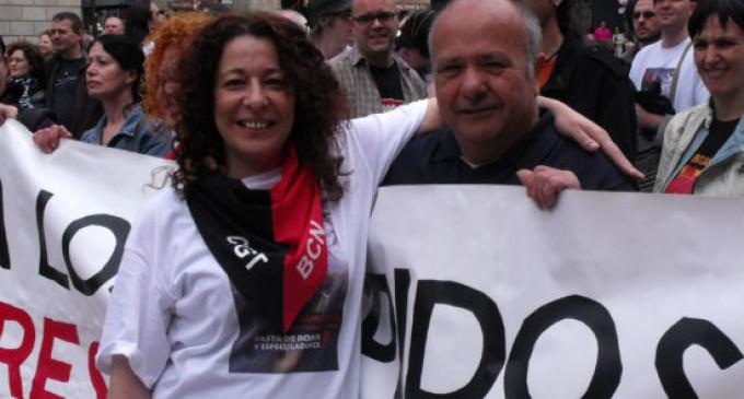 La secretaria de la CGT Barcelona encarcelada el año pasado recupera el derecho a manifestarse