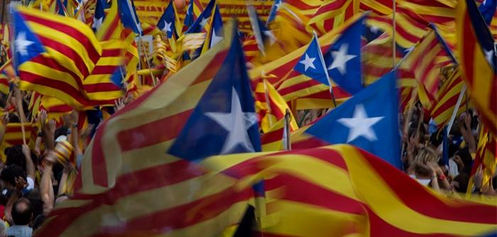 Banderas independentistas en la Diada. | La Marea