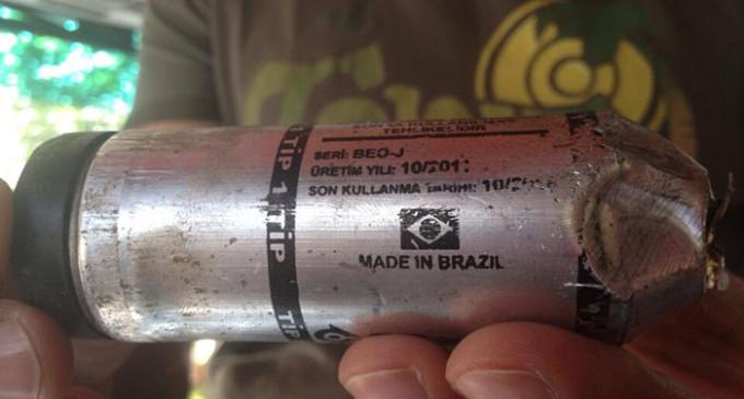 Brasil exporta gas lacrimógeno para reprimir en Turquía