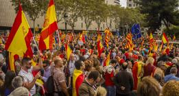 Barcelona vive un 12 de Octubre polarizado