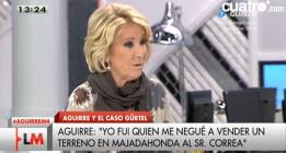"""Esperanza Aguirre: """"¿Que si soy fan de Montoro? No"""""""