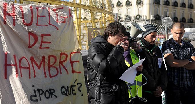 Fin de la huelga de hambre en la puerta del Sol de Madrid