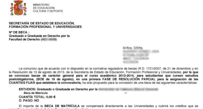 Estudiantes denuncian que Educación deniega sus becas pese a cumplir los requisitos