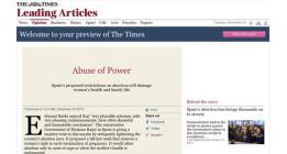 """Críticas internacionales """"por el retroceso"""" en España en los derechos de las mujeres"""