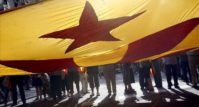 Manifestación por la independencia en Barcelona. | La Marea
