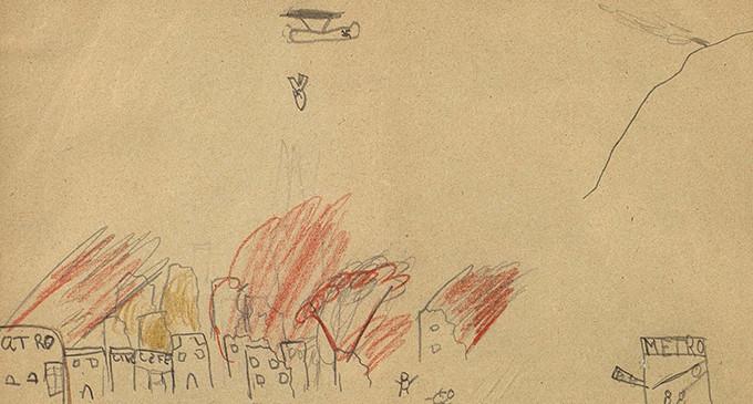 Los dibujos infantiles en las guerras. La casa partida en dos
