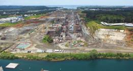 Sacyr se desploma en bolsa tras suspender las obras del Canal de Panamá