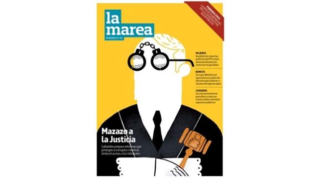 Ya a la venta el nº 13 de La Marea, centrada en el 'mazazo' de Gallardón a la Justicia