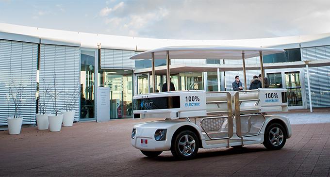 España estrenará el autobús sin conductor de la UE