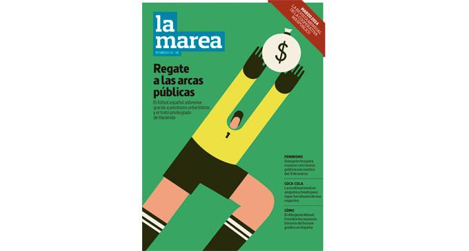 Ya a la venta el nº 14 de La Marea: dinero público y corrupción para salvar el fútbol