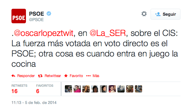 PSOE Óscar López CIS