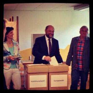 El candidato de los socialistas europeos Martin Schulz
