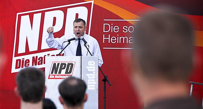 Udo Voigt, el primer neonazi alemán en Estrasburgo