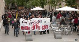 Los disturbios bajan de intensidad en la cuarta noche de protestas de Can Vies