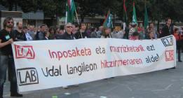 Una de cada tres huelgas de trabajadores en 2013 fue en Euskadi