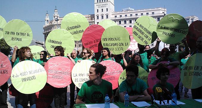 La PAH realizará escraches silenciosos en actos electorales del PP