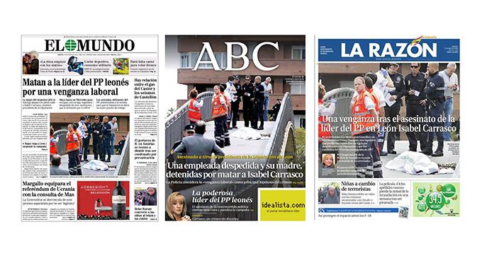 <em>Hacer campaña con la muerte de Isabel Carrasco</em>