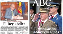 Las ediciones especiales de los diarios rinden pleitesía al rey