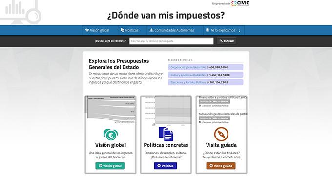 CIVIO renueva su plataforma '¿Dónde van mis impuestos?'