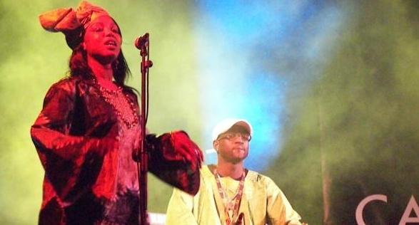 Babacar en el concierto inaugural de Casa África