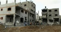 Activistas denuncian en Bruselas la inacción de la UE ante los bombardeos de Gaza