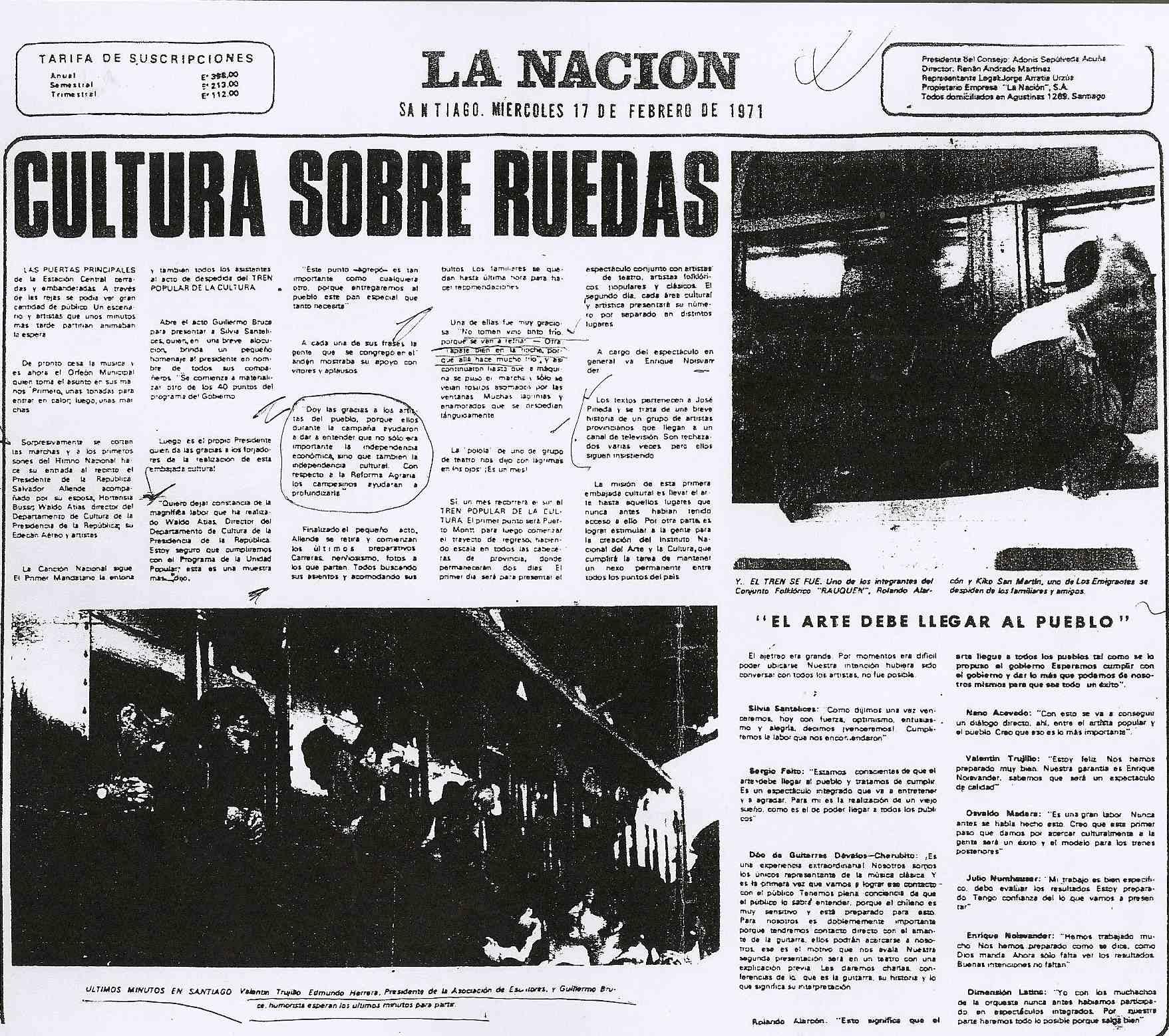 diario la nacion chile 1971-1