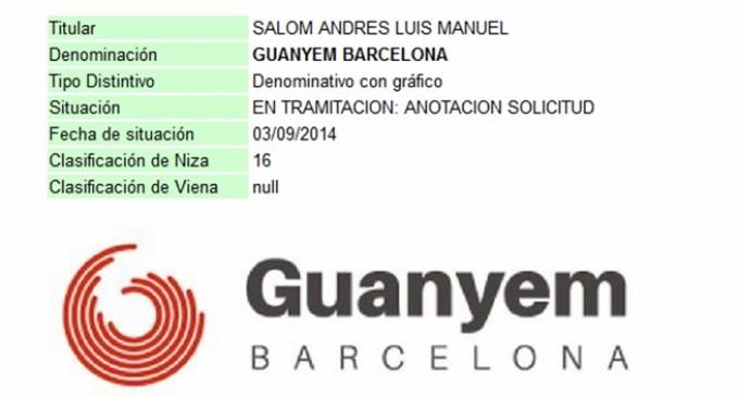 Un asesor del PP registra las marcas Guanyem Barcelona y Guanyem Valencia