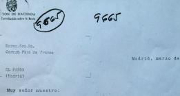 <em>La carta de un funcionario a Carmen Polo de Franco en 1958 para que hiciera la declaración</em>
