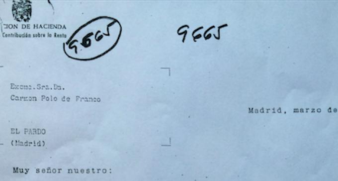 La carta de un funcionario a Carmen Polo de Franco en 1958 para que hiciera la declaración