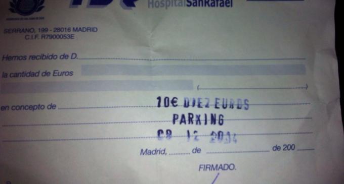 Un hospital deja a sus pacientes sin parking por alquilarlo cuando juega el Real Madrid