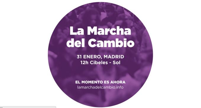 <em>La marcha de adhesión a Podemos</em>