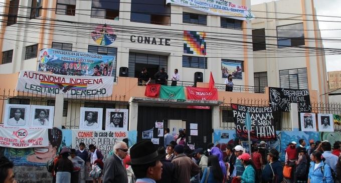 El Gobierno ecuatoriano aplaza el desalojo de la mayor organización indígena del país